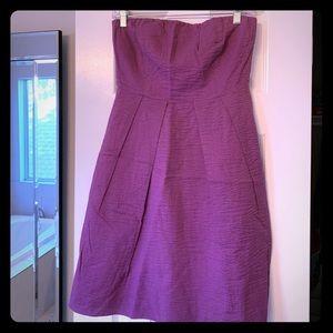 Purple J. Crew sleeveless dress